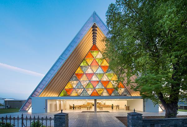 Shigeru Ban's Cardboard Cathedral in Christchurch has been designed to stand for 50 years