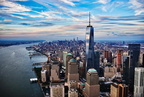 The One World Observatory sits at the very top of New York's skyline / One World Trade Center