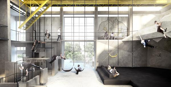 JAJA's design includes spaces for resting and viewing as well as the sports facilities