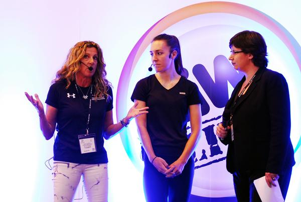 Sally Gunnell (left) represented the Women's Sports Trust