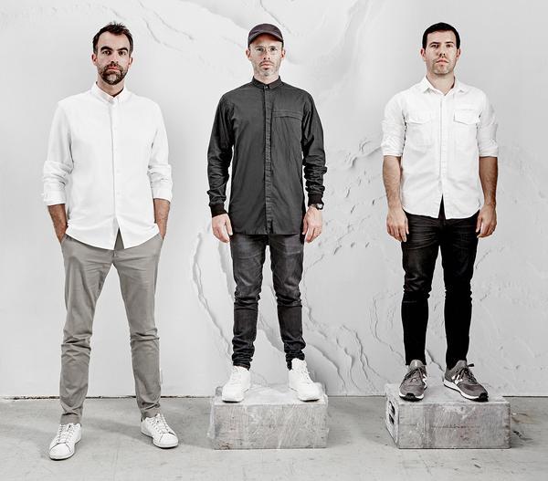 (From left to right) Alex Mustonen, Daniel Arsham and Ben Porto make up the New York design studio Snarkitecture