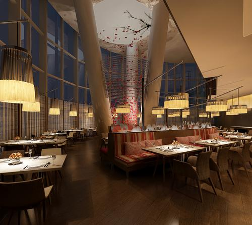 Designed by LTW Designworks the Hyatt Regency Suzhou features five restaurants and lounges / Hyatt
