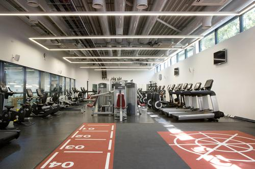 The facility's large new fitness suite was fitted out by Life Fitness