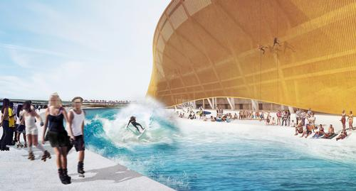 BIG's design for an NFL stadium in Washington includes many additional leisure facilities / BIG and Michael Fairbanks