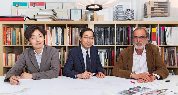 Key members of the New Camp Nou team, left to right: Takeyuki Katsuya, Tadao Kamei and Joan Pascual