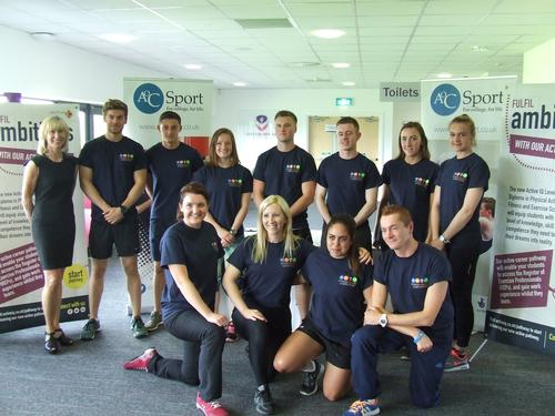 Active IQ commercial director Jenny Patrickson with the 2015 national finals at Loughborough University