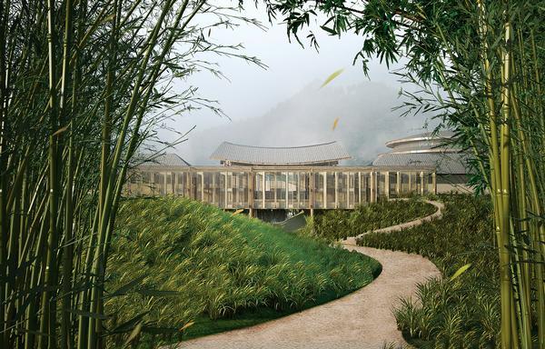 Six Senses' Qing Cheng Mountain resort near Dujiangyan in China
