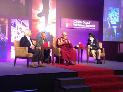 Dalai Lama electrifies the Global Spa and Wellness Summit in New Delhi