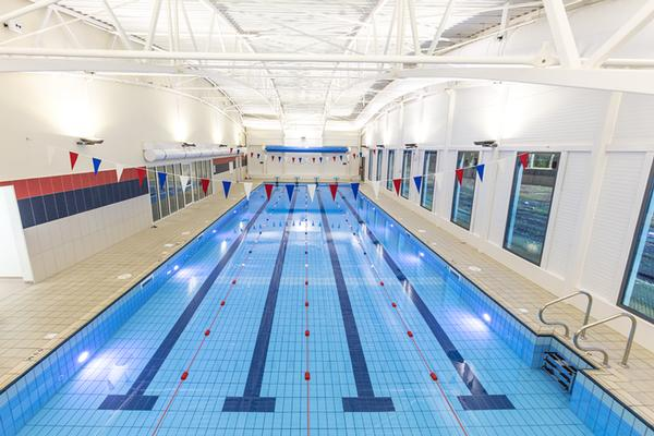 The new sports hub houses a swimming pool and badminton and tennis courts