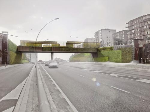 A view of the enhanced, environmentally-friendly Sarajevo Bridge