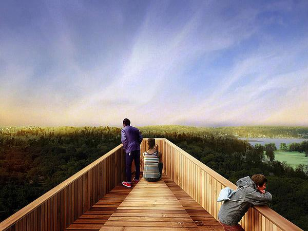 The observation decks will provide views of the Norra Djurgården park., as well as acting as picnic spots