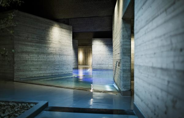 The spa has silent spaces for rest and contemplation.