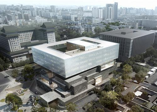 A rendering of the new Guardian Art Centre in Beijing, China / Büro Ole Scheeren