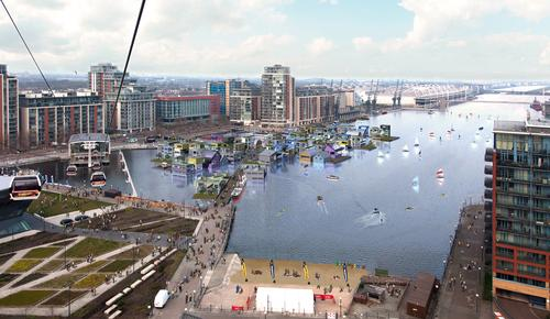 Mixed-use floating village in east London nears planning stage