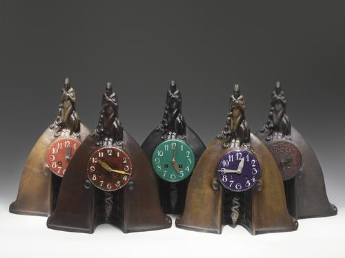 An example of clocks produced by the Amsterdam School movement / Erik & Petra Hesmerg