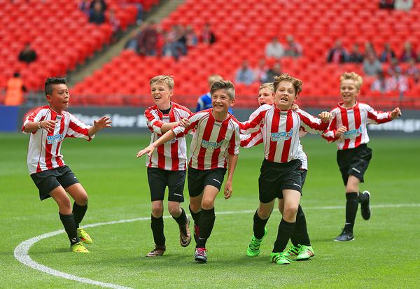 With proper safeguarding measures, sporting events like the Sky Bet League One Kids Cup Final are invaluable for children / Adam Davy / press association