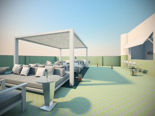 The outdoor terrace features a juice bar and hosts daily yoga sessions / COMO Hotels and Resorts