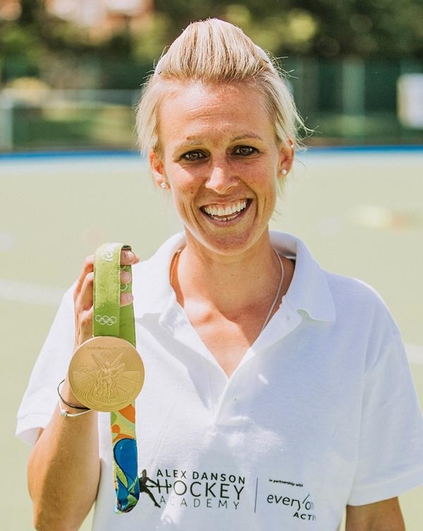 Alex Danson won Gold at Rio 2016 as part of the GB hockey team