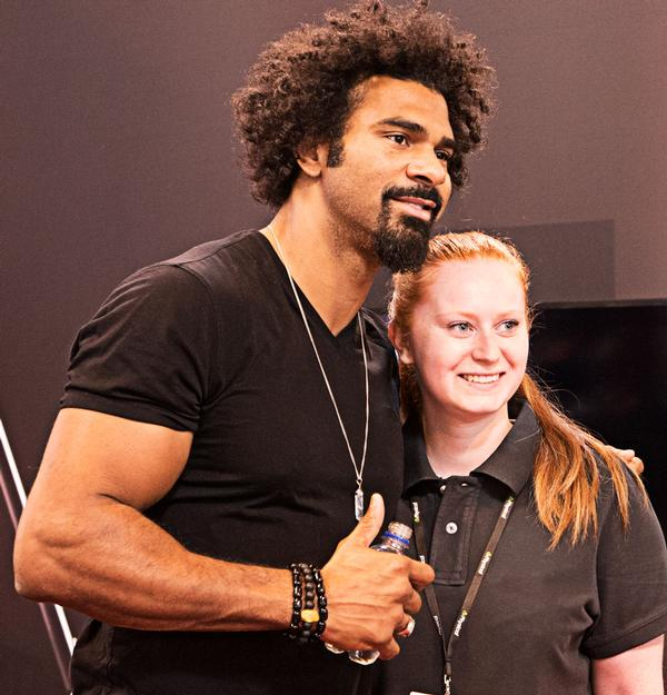 British boxer David Haye attended the show