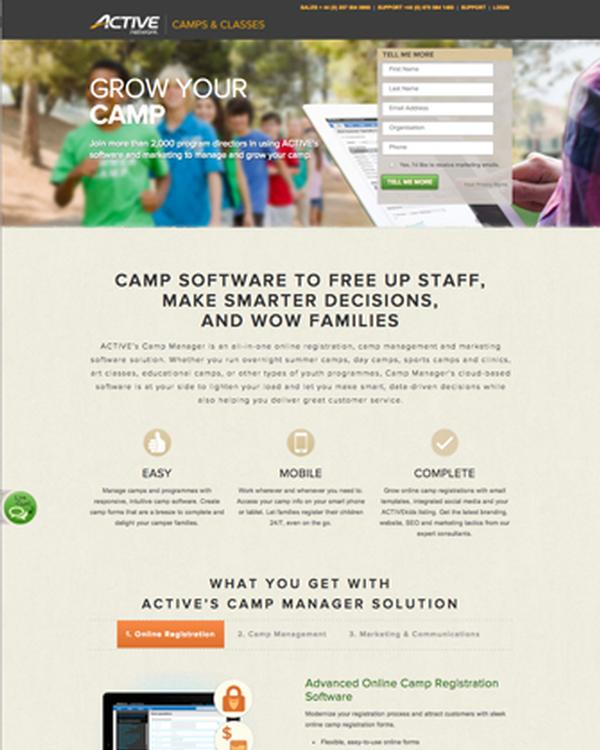 cloud-based Camp & Class Manager