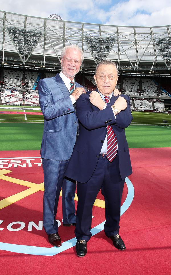 West Ham United co-owners David Gold (left) and David Sullivan (right) have batted away criticisms about the move / image ©: nick potts / press association