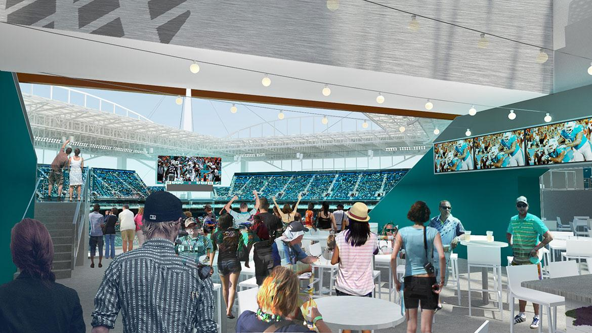 The stadium's suites and concourses are also being revamped / Miami Dolphins