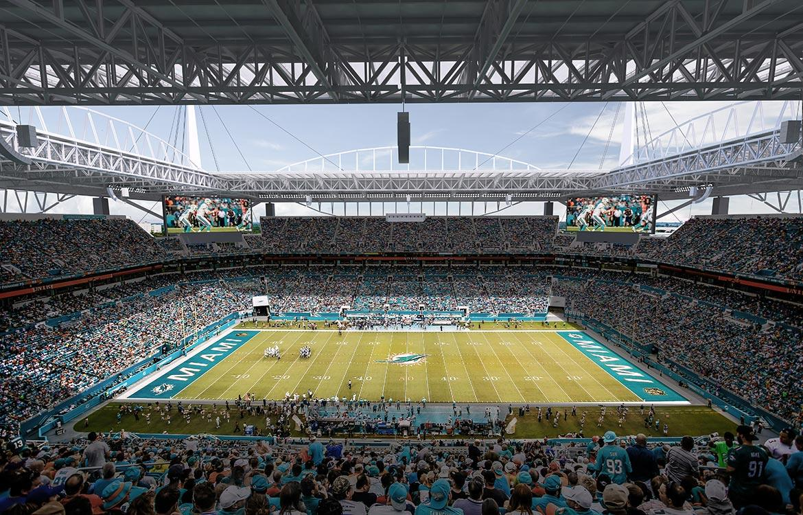 The new canopy will cover 92 per cent of spectators in shade / Miami Dolphins