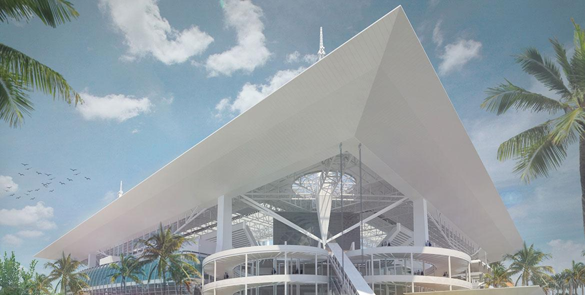 The Dolphins are seeking a corporate sponsor to buy the stadium's naming rights / Miami Dolphins