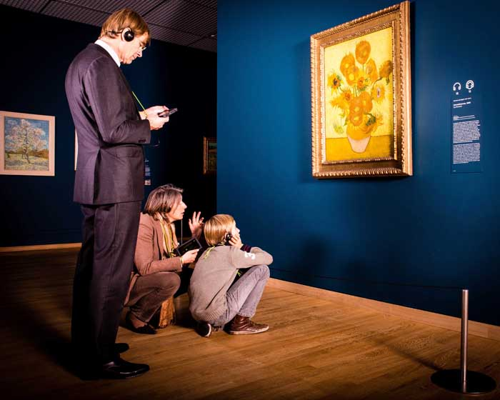 Enhanced multimedia guide paints picture for visitors at Van Gogh Museum