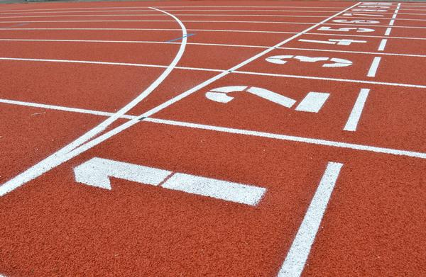 The new track is an IAAF Polytan non-porous sandwich system
