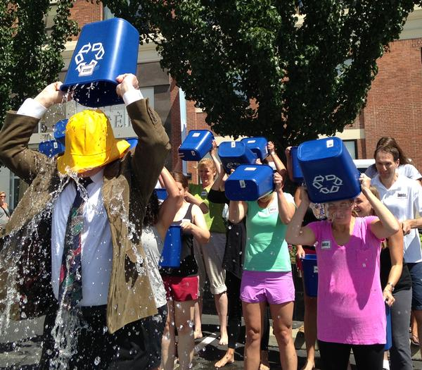 Led by president and CEO Joe Moore, the staff of IHRSA readily accepted and completed their ALS Ice Bucket Challenge in August
