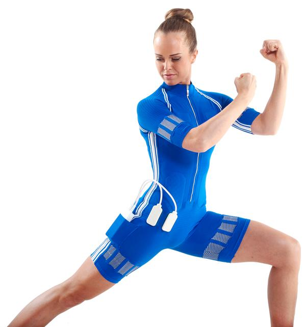 Users can even do HIIT workouts in the EMS suit