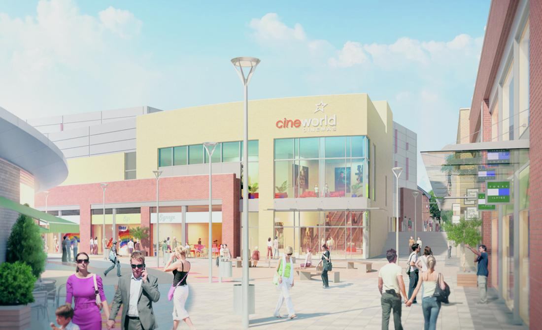An artistic impression of the Crescent development coming to Hinckley / Hinckley & Bosworth Borough Council