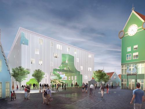 The new Cultural Cluster will be built on a raised pedestrian square / MVRDV