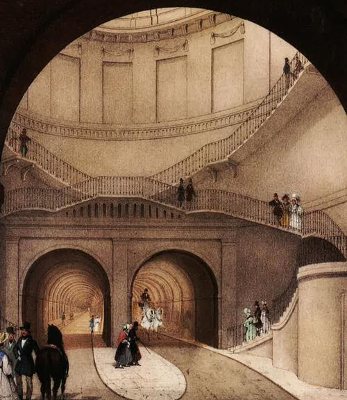 The Thames Tunnel was built in 1843 by a teenage Brunel with his father Marc / Brunel Museum