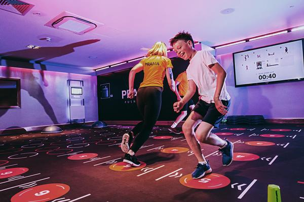 Kids and adults are drawn to play in PRAMA rooms which are being installed at David Lloyd clubs