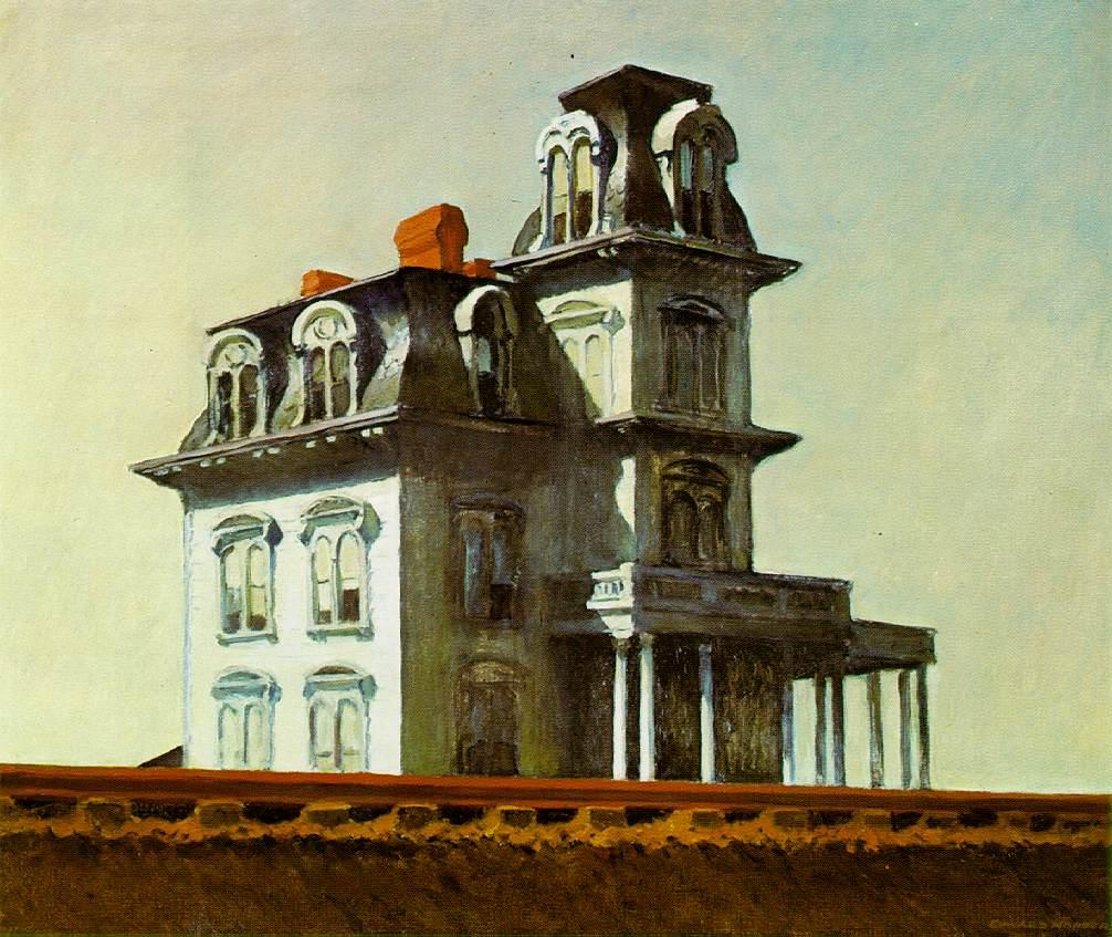 Edward Hopper's painting House by the Railroad was one of Parker's inspirations