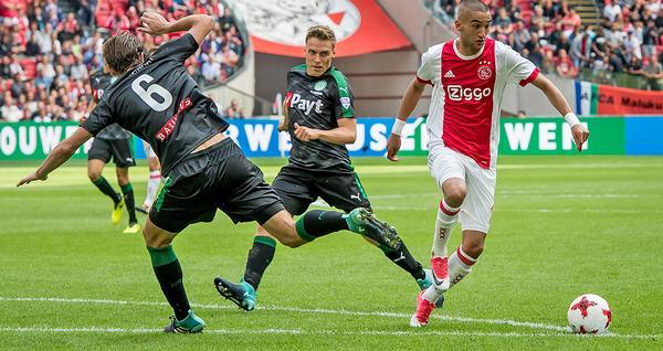 Ajax Amsterdam plays FC Groningen on Amsterdam Arena's Playmaster hybrid pitch / © Ronald Bonestroo fotografie/VI Images/PA Images