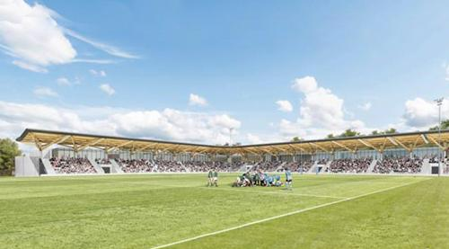 An artist's impression of the new Raeburn Place stadium / Edinburgh Academicals