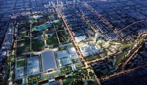 The masterplan for Xi'an, China covers 580,000sq m and has a Silk Road Museum at its heart / OAC