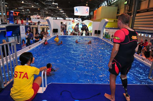 There were lively demos and fitness classes in the swim zone