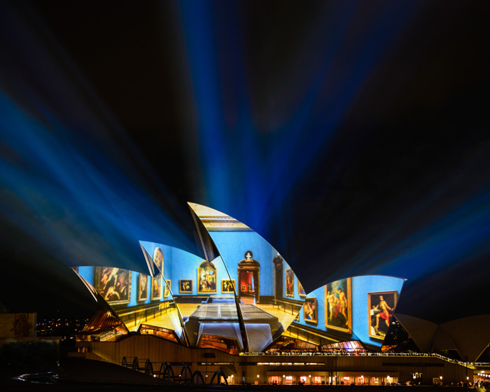 Sydney show projected around the world