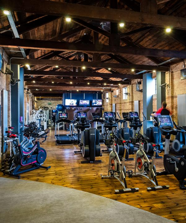 The gym is housed in a former warehouse