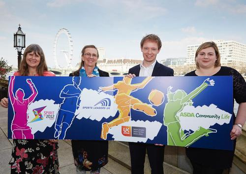 The initiative was launched jointly by (from left to right) Debbie Lye, CEO of Spirit of 2012 Trust; Linda Plowright, CEO of Sports Leaders UK; John Tucker, partnerships director, ukactive; Holly Austen-Davies, community life manager, Asda.