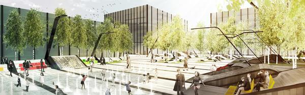 Vilnius Plaza will be located on the former Zalgiris Stadium site in Lithuania's capital city