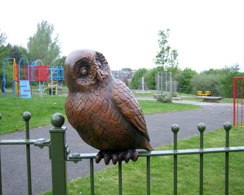 Animal sculptures for Ruskin Park playground boundary
