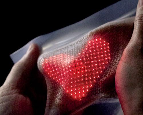e-skin monitor to show body stats