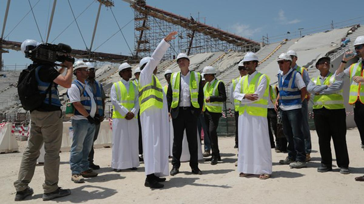 President Infantino announce the initiative during his two-day visit to Qatar / FIFA