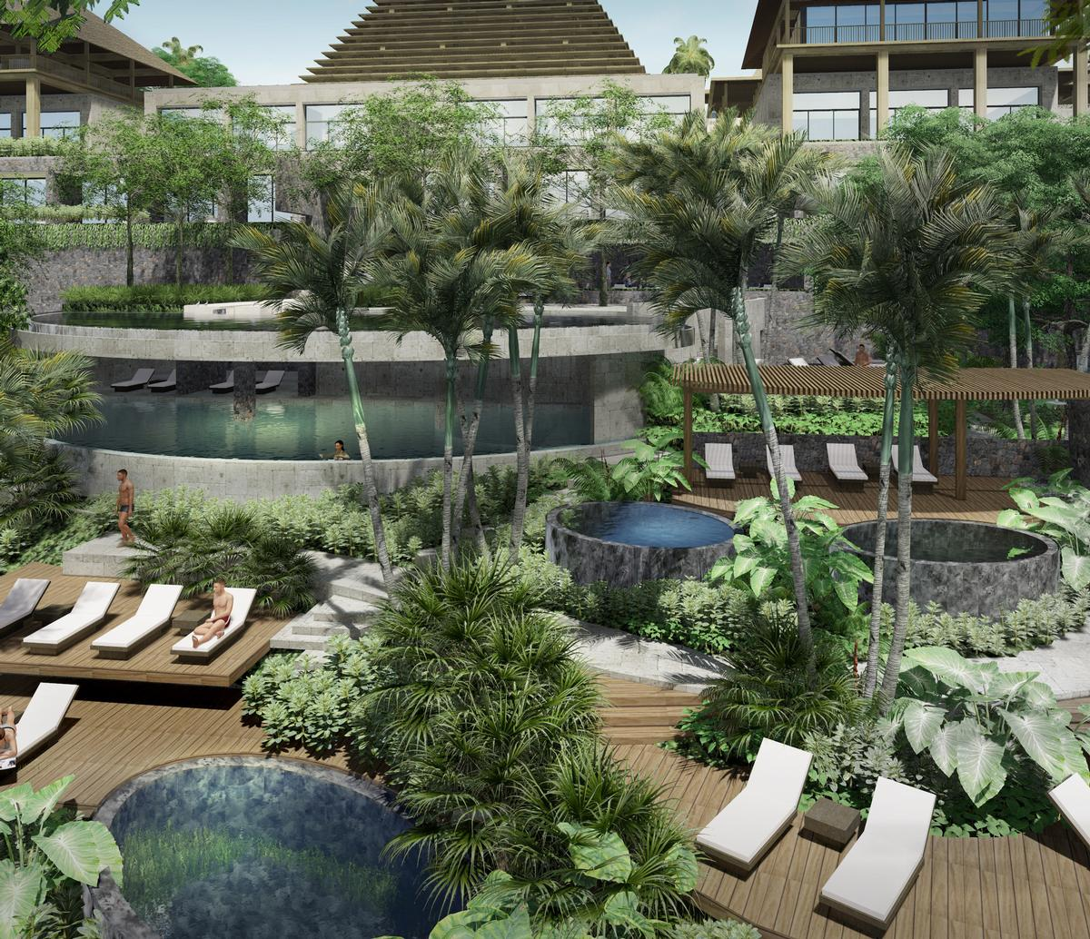 GOCO Retreat Ubud will include a wellness centre with 45 treatment rooms, as well as an extensive outdoor rainforest bathing area