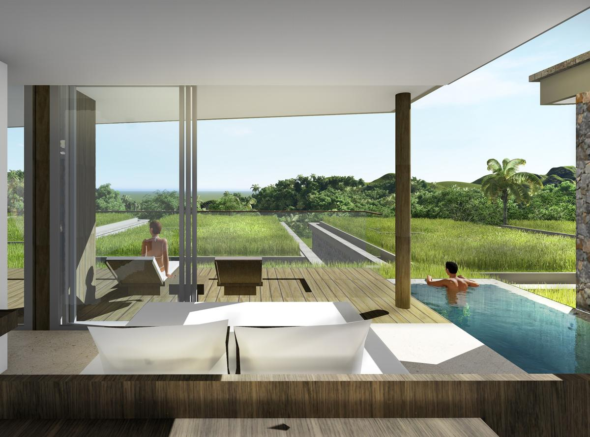 The retreat will include 74 guestrooms as well as 80 branded residences